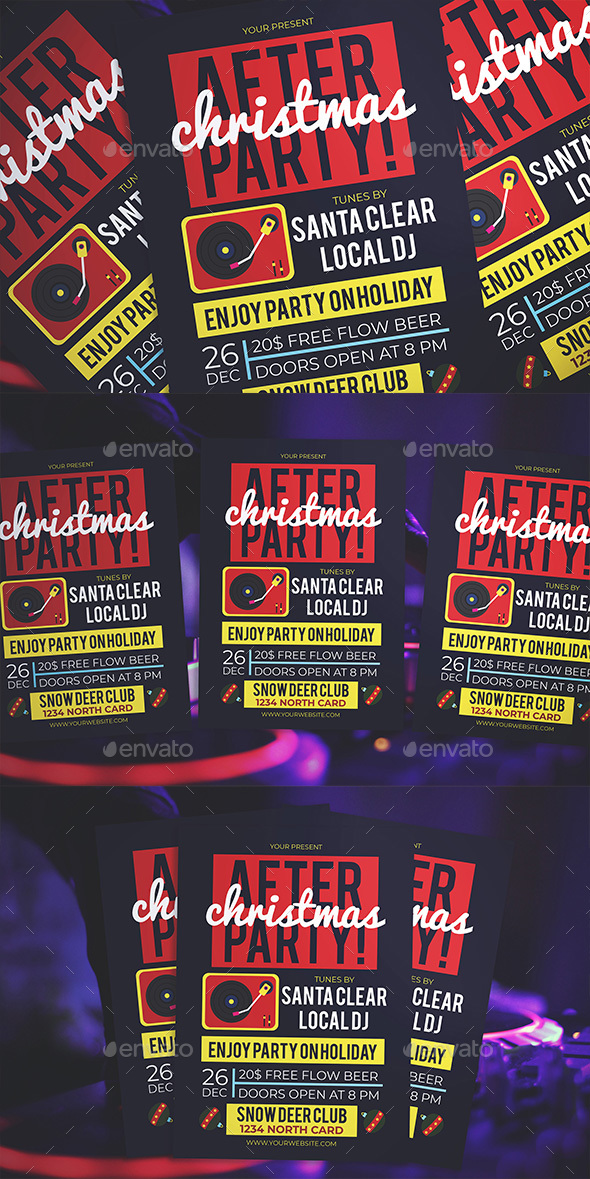 Flyers PSD – Christmas After Celebration Flyer – Download