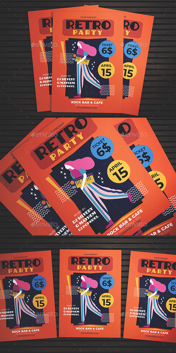 Flyers PSD – Retro Song Flyer – Download