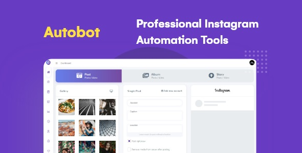 Instagram Automation Tools with Schedule – Autobot Instagram – PHP Script Download