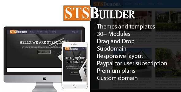 STSBuilder –  Web page Builder Service – PHP Script Download