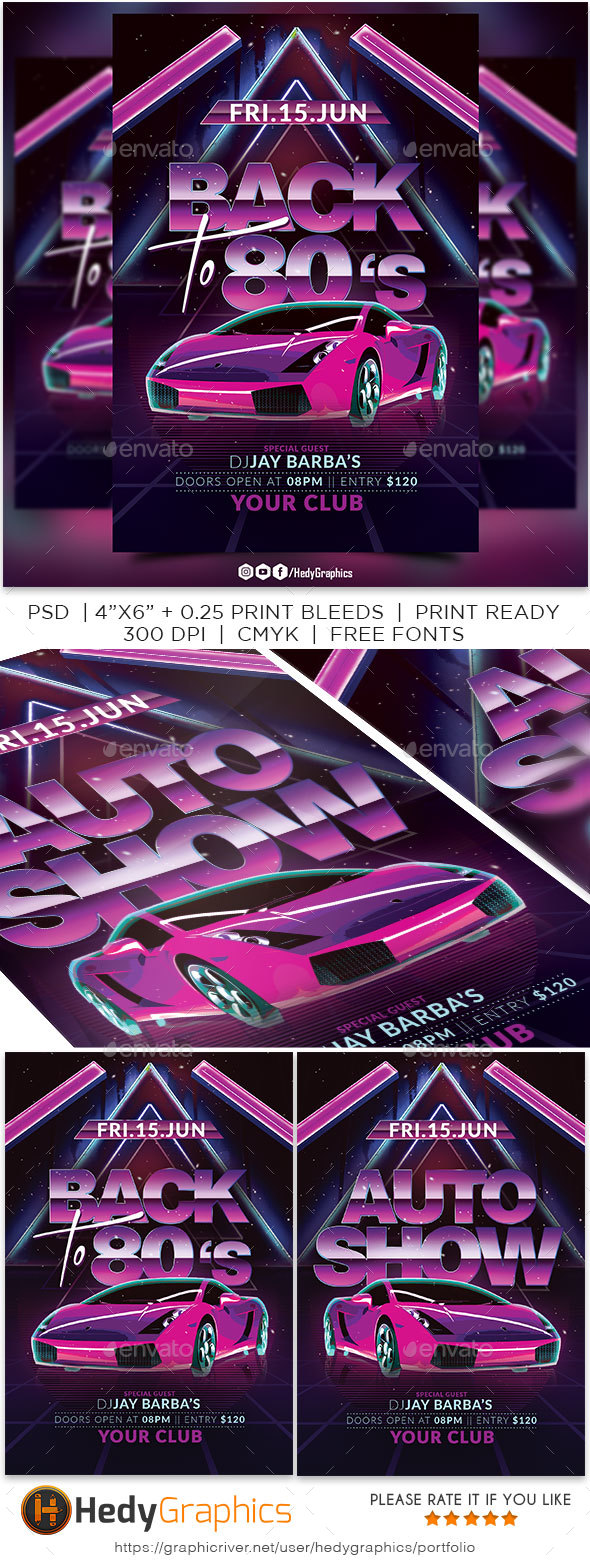 Flyers PSD – Support to 80s Flyer – Download