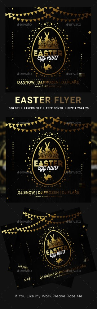 Flyers PSD – Easter Flyer – Download