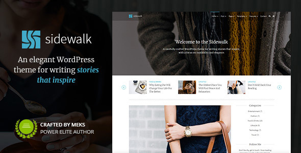 Sidewalk – Stunning Non-public Weblog WordPress Theme – WP Theme Download