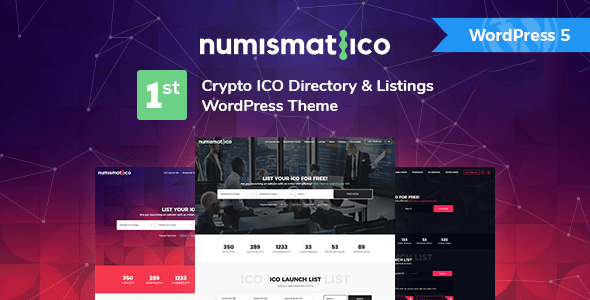 Numismatico – Cryptocurrency Listing & Listings WordPress Theme – WP Theme Download