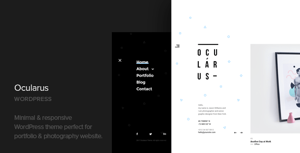 Ocularus – Minimal Images WordPress Theme – WP Theme Download