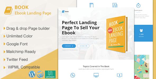 E book – Responsive Guide Landing Page WordPress Theme – WP Theme Download