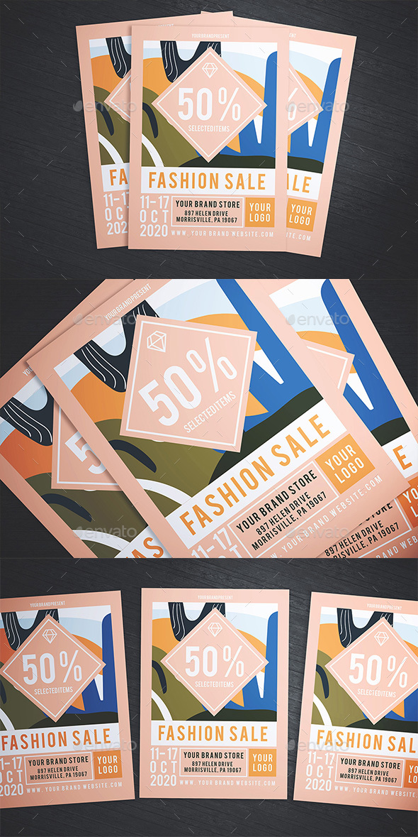 Flyers PSD – Adore Kind Sale Flyer – Download