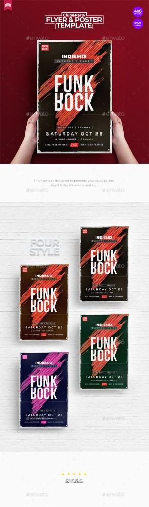 Flyers PSD – Funk Rock – Flyer Template – Download