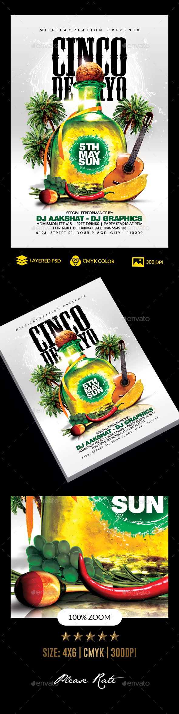 Flyers PSD – Cinco De Mayo – Download
