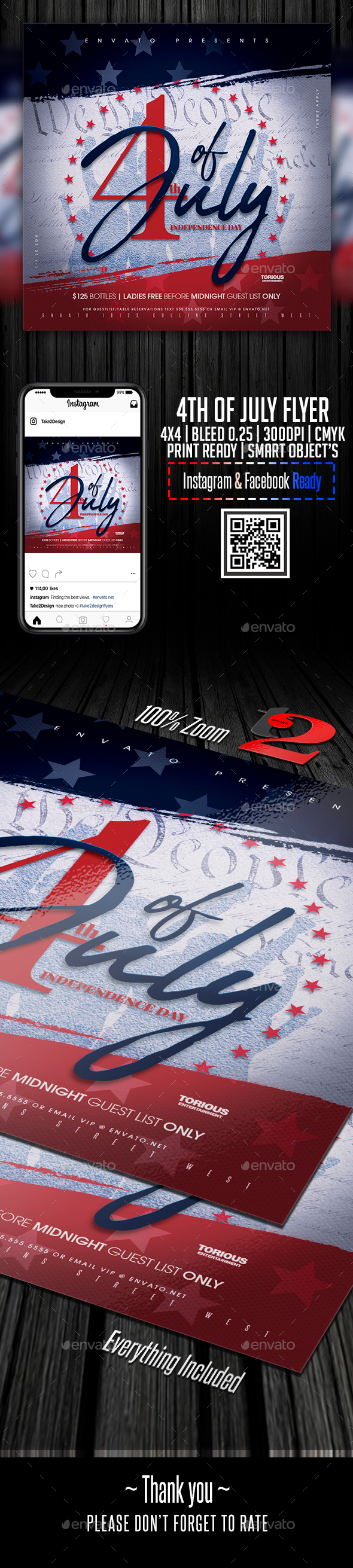 Flyers PSD – 4th of July Flyer Template – Download