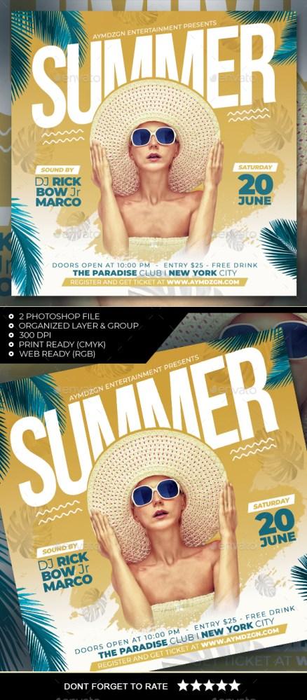 Flyers PSD – Summer season Flyer – Download