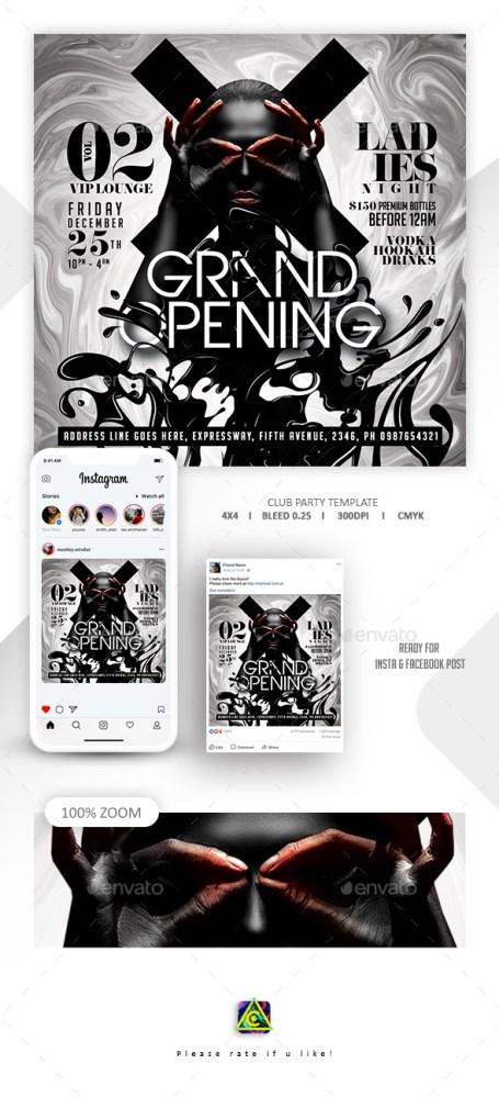 Flyers PSD – Immense Opening Celebration Flyer – Download