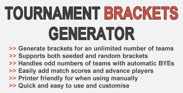 Event Brackets Generator – PHP Script Download