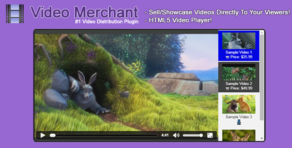 Video Merchant – HTML5 Video Player – PHP Script Download