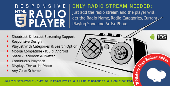 Visual Composer Addon – HTML5 Radio Participant for WPBakery Page Builder – PHP Script Download