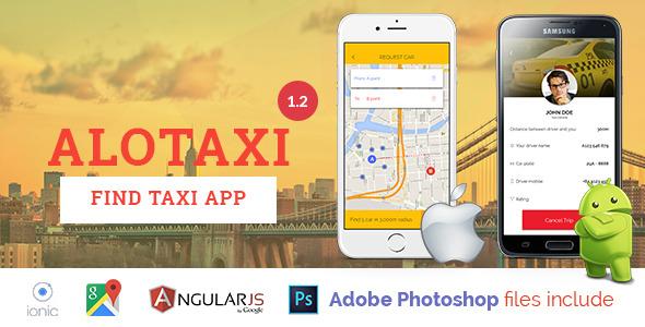 AloTaxi – Mobile App Template – PHP Script Download