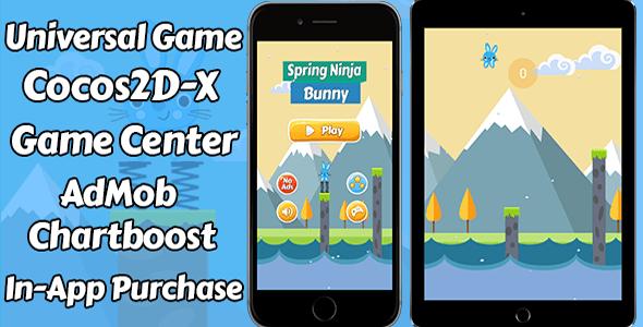 Spring Ninja Sport – (Ads + Sport Center + iAP) – PHP Script Download