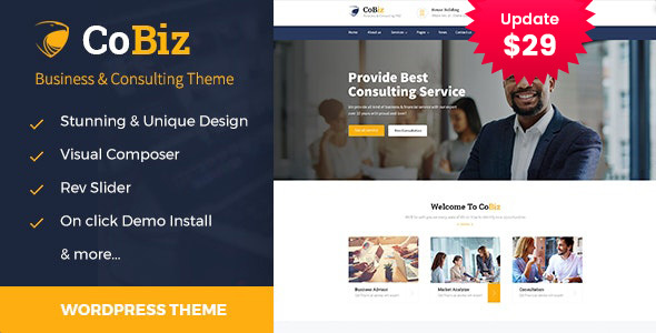 Cobiz -Industrial Consulting and Skilled Products and providers WordPress Theme – WP Theme Download
