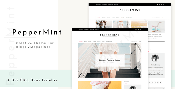 PepperMint – Ingenious WordPress Theme for Blogs/Mini-Magazines – WP Theme Download