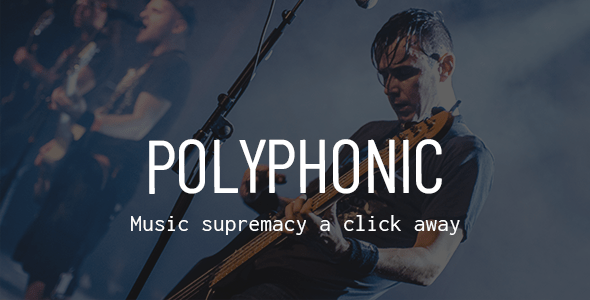 Polyphonic – Song Band, Artist & Musician Theme – WP Theme Download