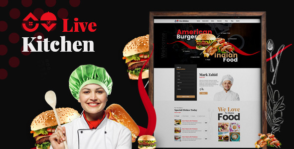 Livekitchen | Restaurant Cafe WordPress Theme – WP Theme Download