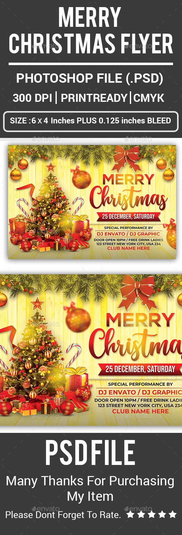 Flyers PSD – Merry Christmas Flyer – Download