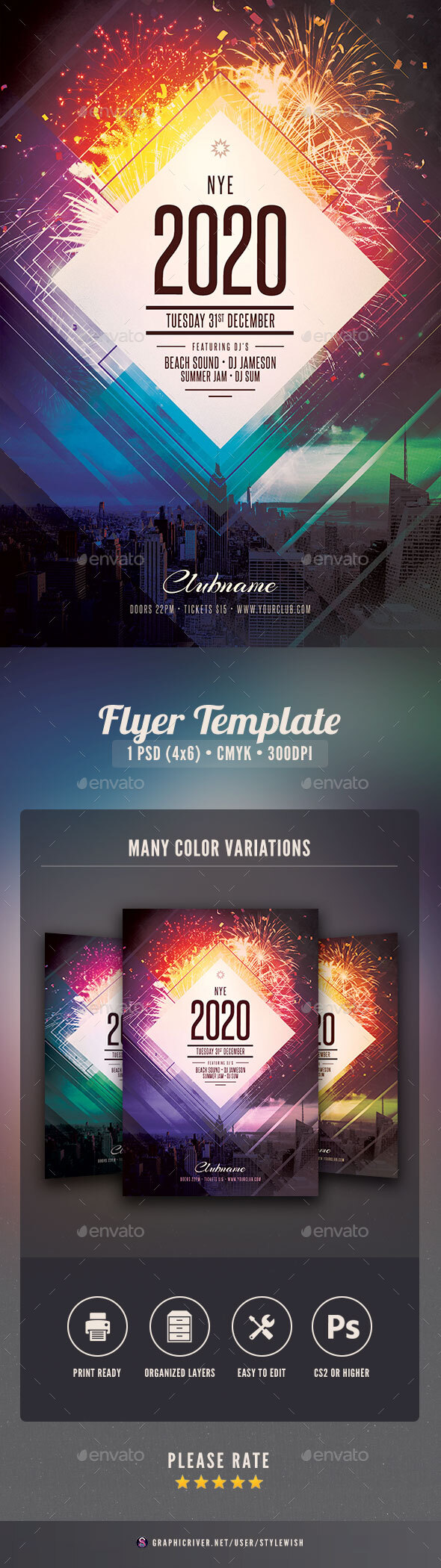 Flyers PSD – New Yr Flyer – Download