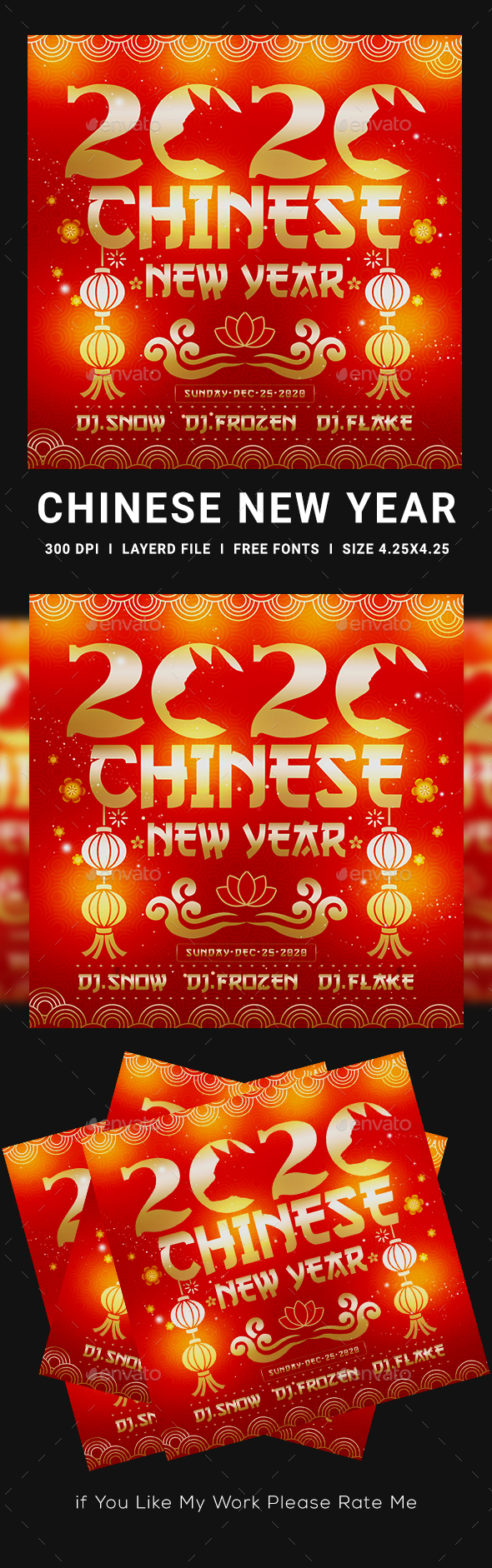 Flyers PSD – Chinese language Composed three hundred and sixty five days Flyer – Download