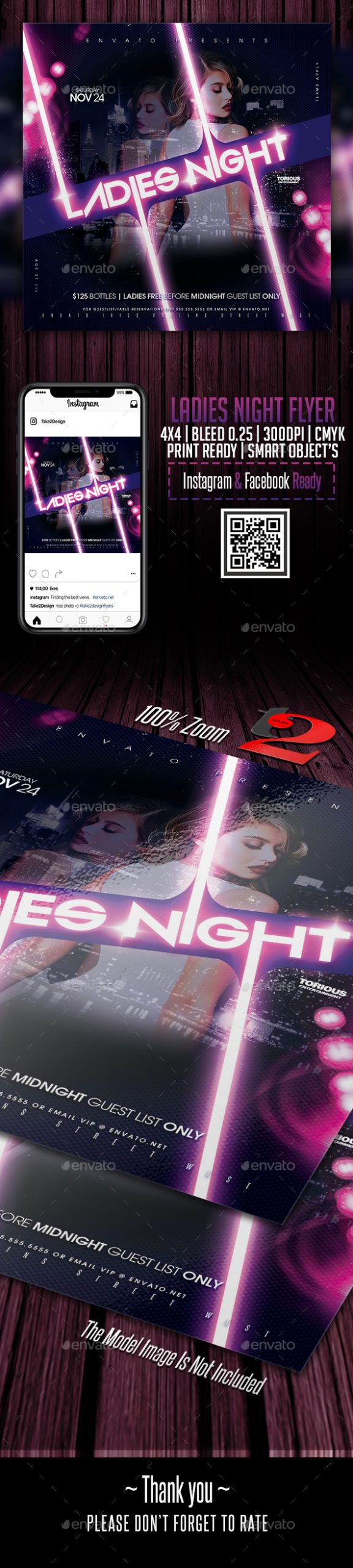 Flyers PSD – Ladies Night time Flyer Template – Download