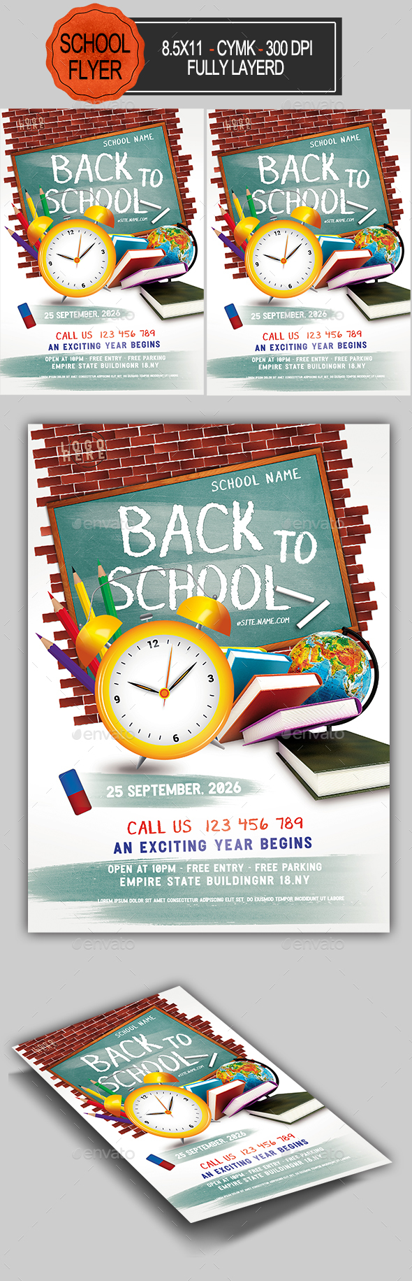 Flyers PSD – Attend to College Flyer – Download