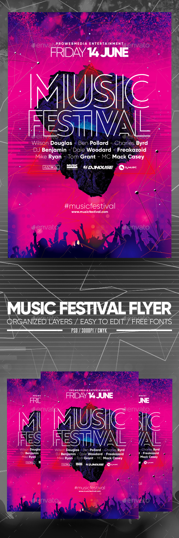 Flyers PSD – Song Festival Flyer – Download