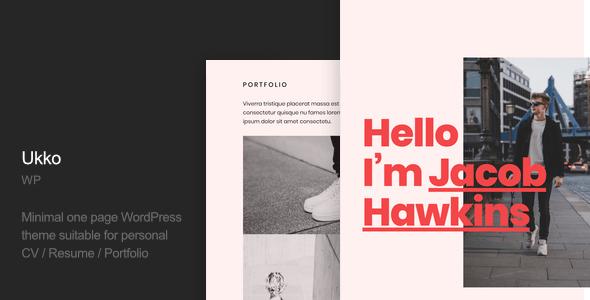 Ukko – Inner most Portfolio WordPress Theme – WP Theme Download