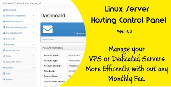 Linux Web Cyber net hosting Management Panel Ver 4.3 – PHP Script Download