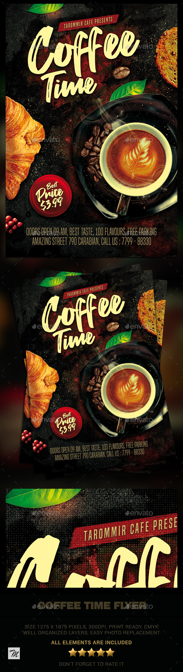 Flyers PSD – Coffee Time Flyer – Download