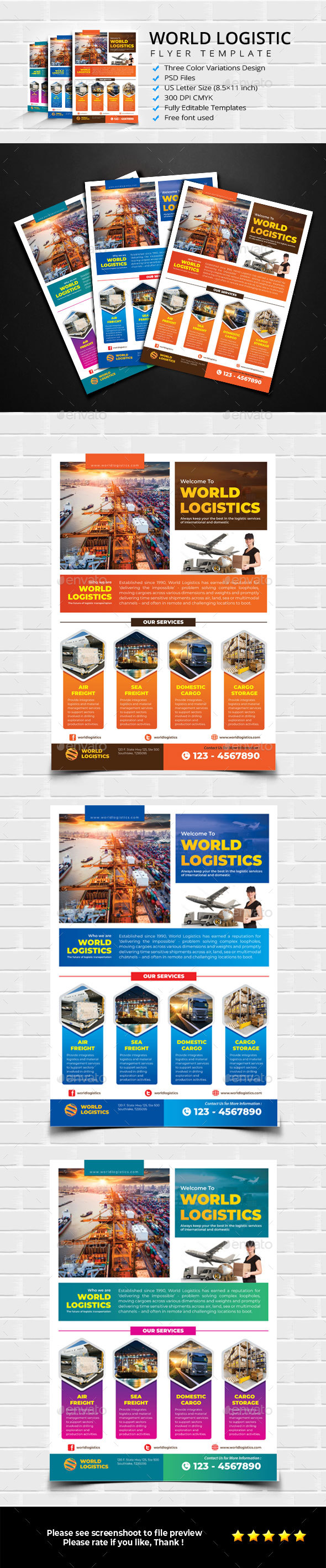 Flyers PSD – Worldwide Logistic Flyer – Download