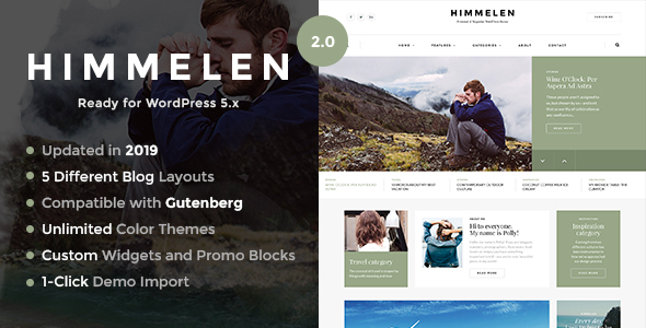 Himmelen – Inside of most Minimal WordPress Blog Theme – WP Theme Download