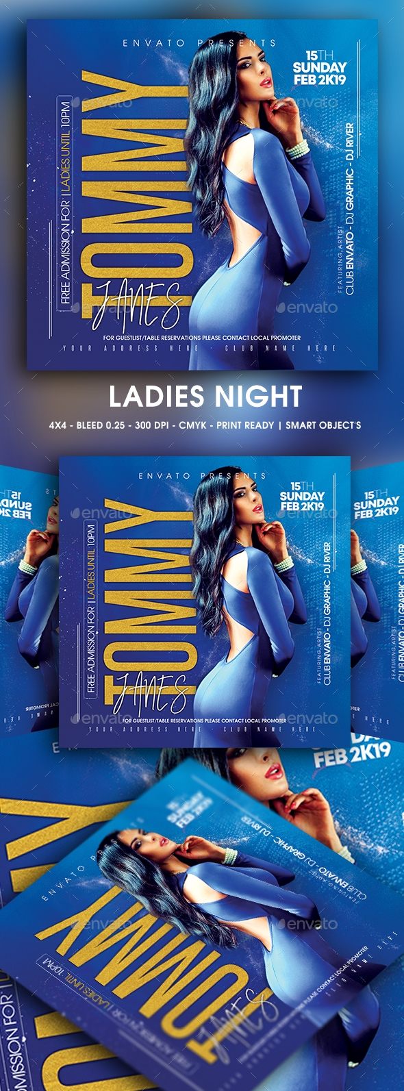 Flyers PSD – Ladies Night – Download