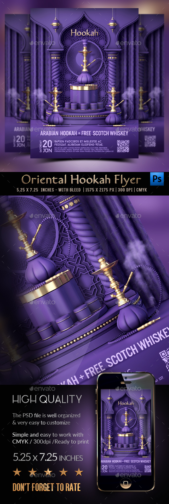 Flyers PSD – Hookah Flyer – Download