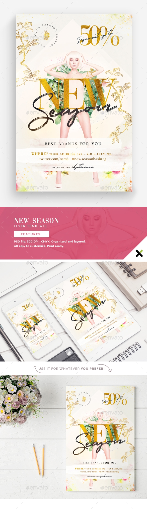 Flyers PSD – Unique Season Flyer Template – Download