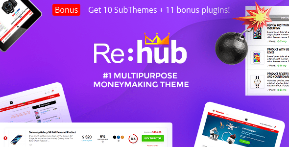 REHub – Price Comparison, Multi Seller Marketplace, Affiliate Marketing, Community Theme – WP Theme Download
