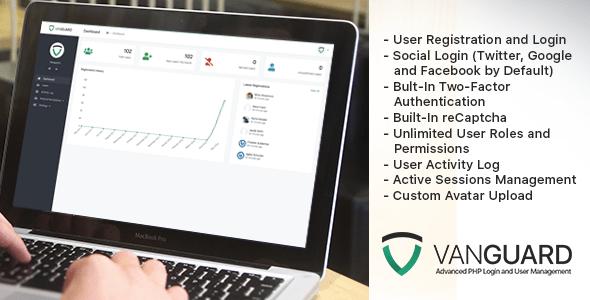 Vanguard – Evolved PHP Login and User Management – PHP Script Download