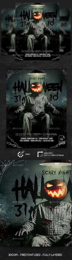 Flyers PSD – Halloween Night – PSD Flyer Template – Download