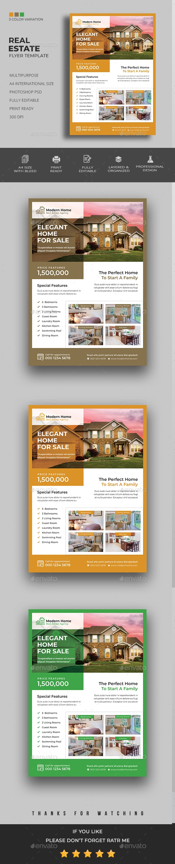 Flyers PSD – Real Estate Flyer – Download