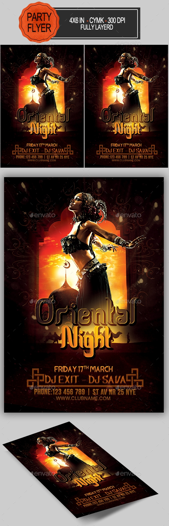 Flyers PSD – Oriental Night Flyer – Download