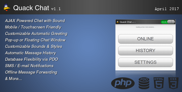 Quack Chat Live Help Support System – PHP Script Download