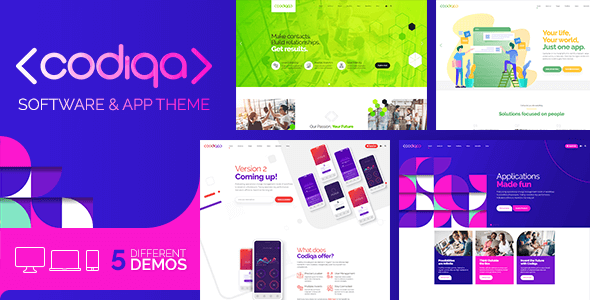 Codiqa – Utility, App & Digital – WP Theme Download
