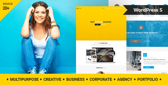 Connection – Multipurpose / Creative / Replace / Corporate / Agency / Portfolio WordPress Theme – WP Theme Download