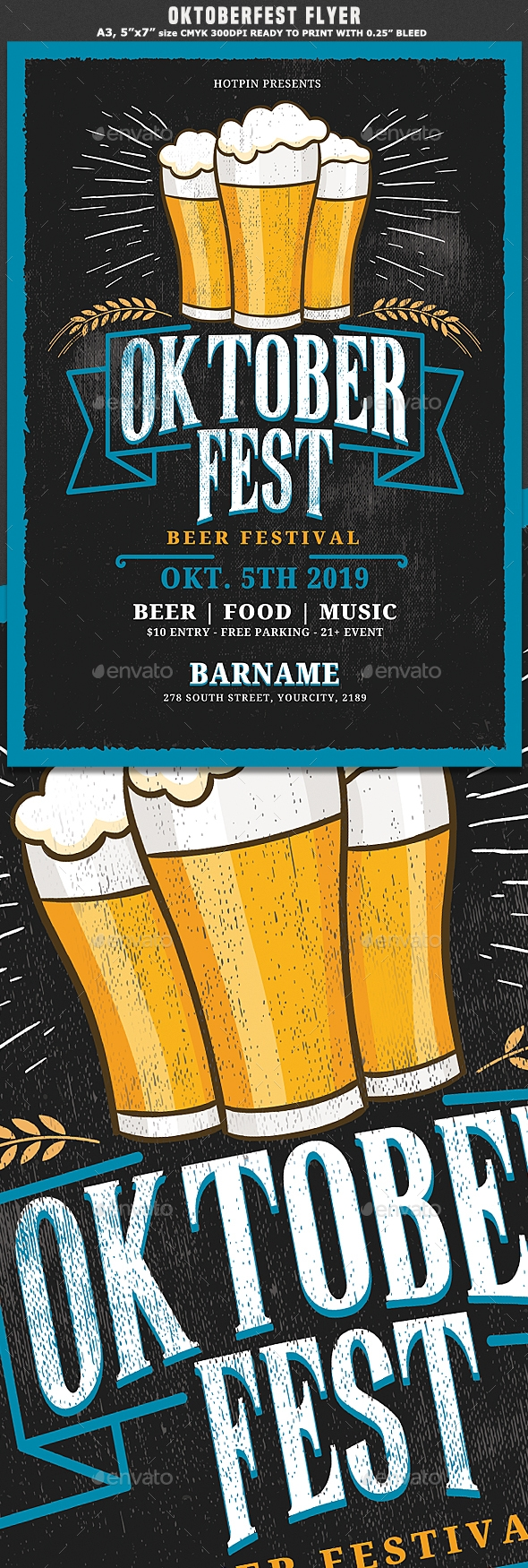 Flyers PSD – Brewfest  | Posters Templet – Download