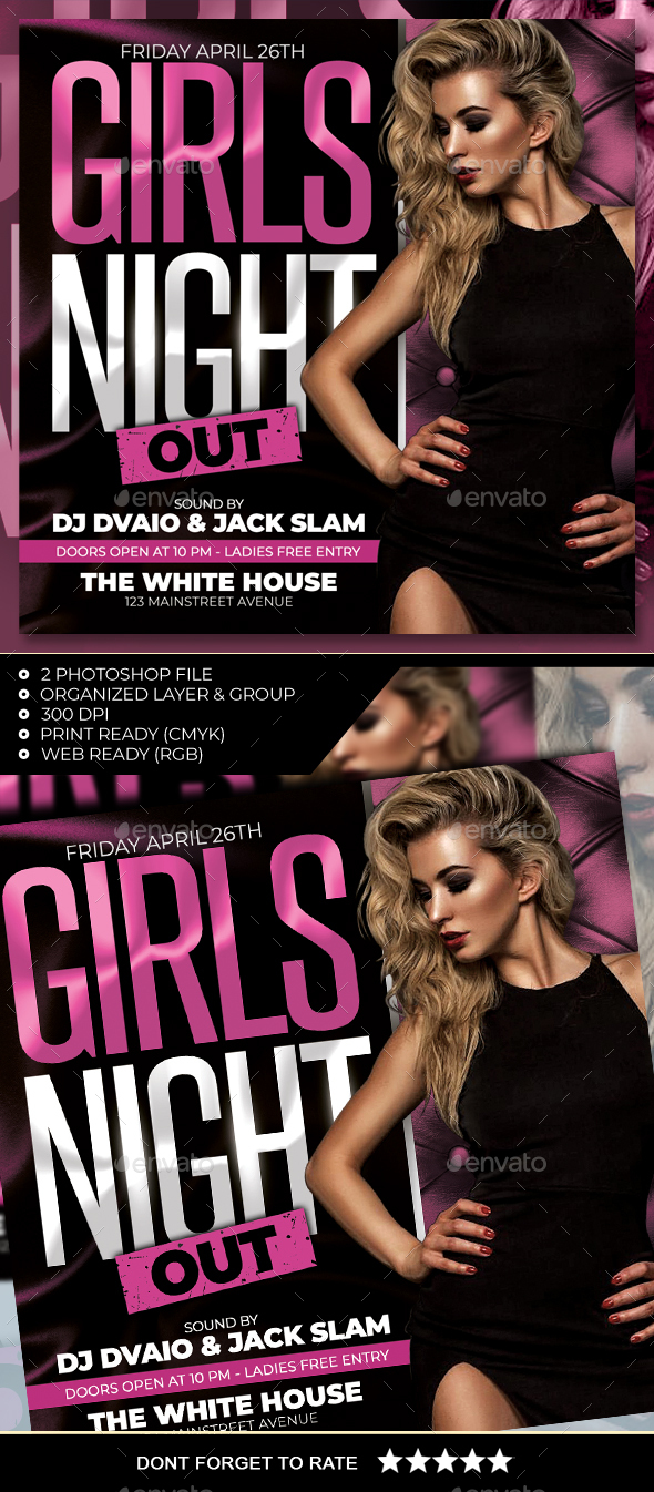 Flyers PSD – Ladies Night Out Flyer – Download