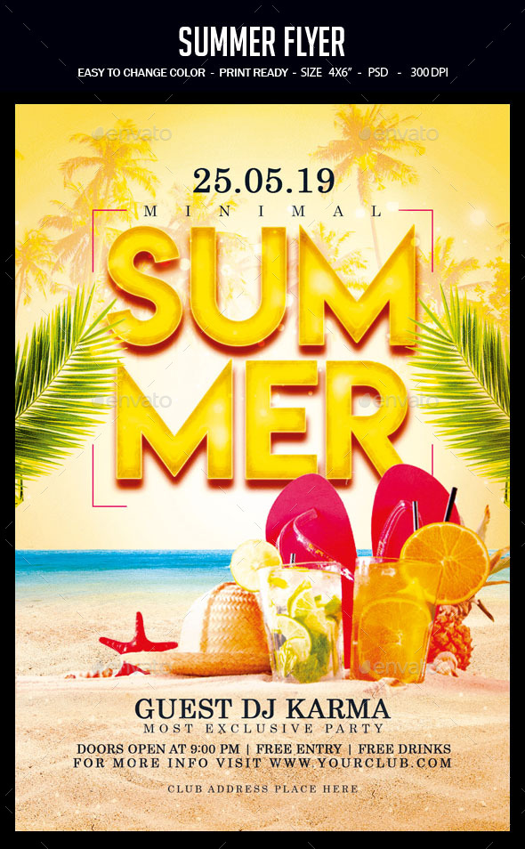 Flyers PSD – Summer Flyer – Download
